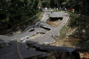 Earthquake Damage to a Road